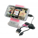 [MS-250B] 접이식 USB허브 휴대폰 홀더 충전기(2.0)