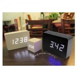 ZEN 우드블럭 디지털 LED탁상알람시계(대)