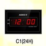 C1(24H)/12시/24시겸용 시계전자벽걸이시계/24시간용/24H/실크인쇄/개업벽시계/개업축하벽시계/전자벽시계