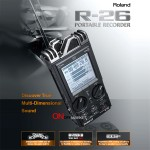 R-26/롤랜드 에디롤 전문가용 6채널 녹음기 보컬용녹음기/프로페셔널핸디레코더/콩쿨녹음용/연주녹음기/생생한원음녹음/R26/롤랜드에디롤/RolandEDIROL