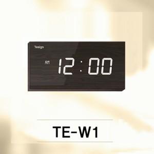 TE-W1/ 디자인벽시계, 인테리어사무실, 데코시계특수필름디지털시계,시간색상 선택가능(레드,화이트),매장용디지털벽시계,개업선물용벽시계,잘보이는디지탈