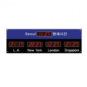 5개국 월드타임 디지털시계/별도주문제작가능
