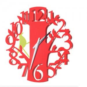 앵무새 디자인벽시계[5color 선택가능]