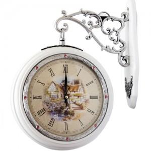 엘스J110 양면시계 [월넛/화이트]