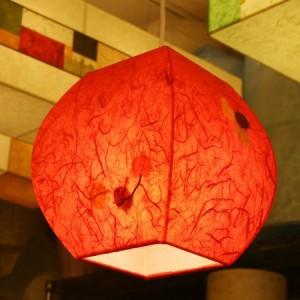 특가 [한지등] 단지팬던트[빨강민속무늬]-대각선 사이즈