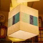 특가 [한지등] 사각2호팬던트[파란조각패턴]사각전등,사각팬던트조명,조명추천,한지등전화주문,전통한지등판매,조명맞춤