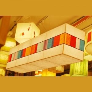 [한지등] 직사각팬던트[창호지조각-파랑,주황]