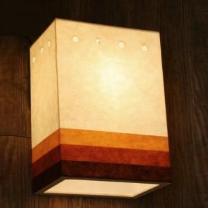[한지등] 사각벽등[삼색띠지]