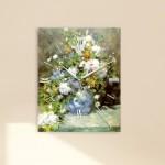 르느와르 - 봄의부케 (명화 인테리어시계)