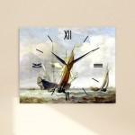 윌렘반데벨트 - B73산들바람속의작은배두척 (명화 인테리어시계)