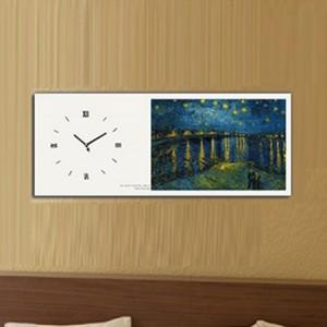 고흐 -  론강의별밤 (명화 인테리어벽시계)