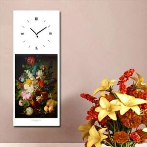 반다엘 - 과일이 있는 꽃병 (명화 인테리어시계)