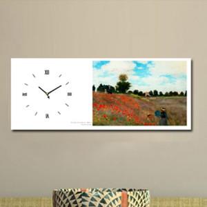 모네 - 아르장퇴유 부근의 개양귀비꽃 (명화 인테리어시계)