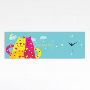 커플고양이 (로맨틱 인테리어시계)