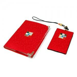 조각보 여권지갑세트(적색)가격:30,000원