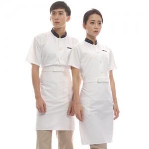CS01-NNT3 공용 백곤 싱글반팔조리복(면혼방30수)앞치마/심플/업소용/조리복/서빙복/유니폼/단체복/청결/주방용/위생/단순/깔끔/무지
