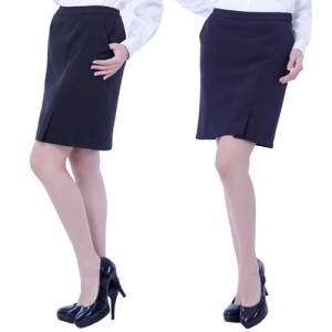 PS01 스판 치마바지스커트 트임 네이비 남색 곤색 서빙복 근무복