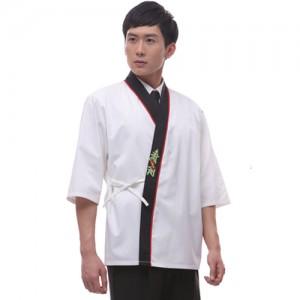 CJ17WW 남성 백색 스시 일식복