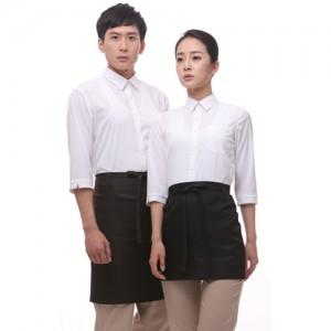 YU19WW 백색 스판 칠부셔츠(공용)