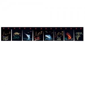 GN01BB 검정 자수 노랭일본식,노랜,노랭,자수,소품,일식당,노렌,전통,커튼,걸개그림,노보리