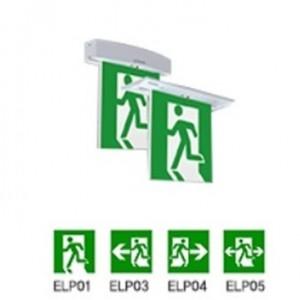 천장 직부/매입 피난구 중형 유도등/단면형