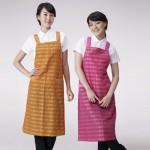 킹 체크 BA-056체크무늬, 조리복, 예쁜, 앞치마, 음식점, 식당, 유니폼