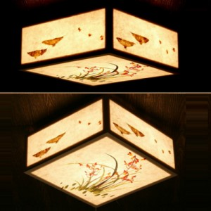 [한지등] 미니방등[난꽃, 찻잔방등]