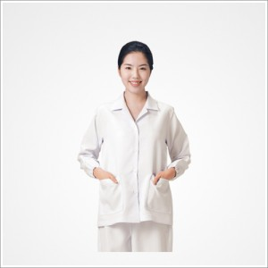 마뜨 여 식당 소매 고무줄 유니폼