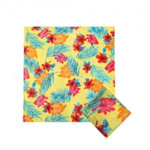가제스카프 하와이꽃 나염스카프