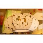 [한지등] 호박1등팬던트[잎새한지등]음식점등,호박등,인테리어조명,한지공예,고급조명,한지등제작,초록잎조명