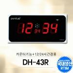 DH-43R/고급형 중형벽시계(24시겸용)/카운터기능겸용