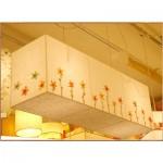 [한지등] 직사각팬던트[창호지수제꽃55]음식점등,인테리어조명,한지공예,고급조명,한지등
