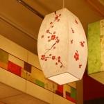[한지등] 모던팬던트[매화그림등]음식점등,인테리어조명,한지공예,고급조명,한지등