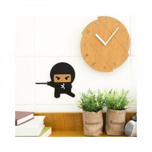 심술 닌자 무소음벽시계