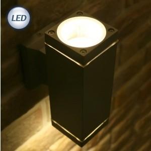 LED 외부사각 MR 벽2등 (LED MR16 220V) (블랙/그레이)