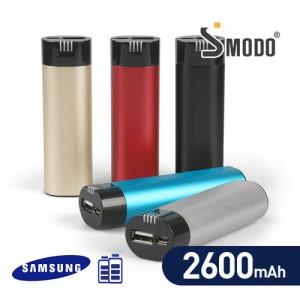 [SMODO-852A] USB 스틱형 보조배터리 2600mAh (삼성SDI 정품 리튬배터리)핸드폰보조배터리,휴대배터리사은품,각종기종호환,휴대용보조배터리,핸드폰악세서리,판촉