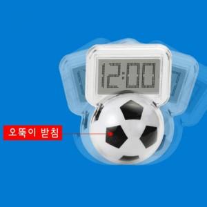 (오뚝이)투명유리 축구 시계달력