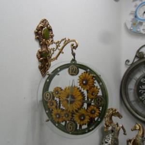 다발해바라기양면시계