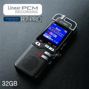 R7-PRO (32GB) 최신형/ 먼거리 고음질 증폭녹음, 가방속녹음, 포켓속녹음