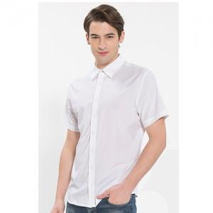 남성 반팔 단색 셔츠 /화이트(Y-101S)