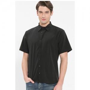 남성 반팔 단색 셔츠 /블랙(Y-102S)