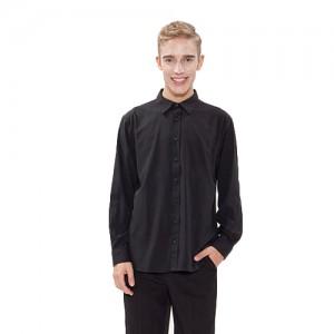 남성 긴팔 단색 셔츠 /블랙(Y-102L)