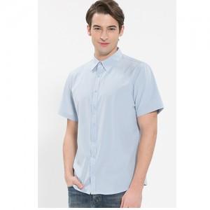 남성 반팔 단색 셔츠 /스카이블루(Y-103S)