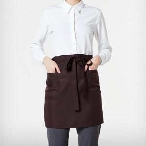허리형 숏 엉덩이덮개 앞치마 /브라운(A-202)