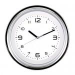 투톤투명 크롬벽시계