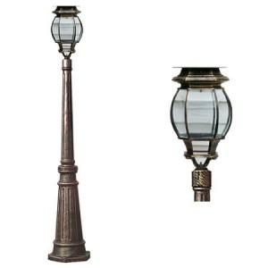 4907 LED 태양광 가로등 [중형-1.5M /1등] 1와트 2와트1.5M/LED태양광/태양광정원등/태양광잔디등/LED잔디등