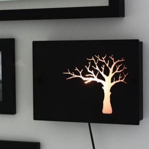 [바이빔] 나무벽걸이스탠드-블랙[액자형벽등,디자인벽등,인테리어데코조명,벽걸이스탠드,나무모양조명,벽장식조명]