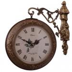 주물 장미문양 양면시계