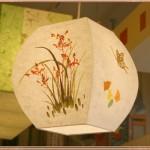 [한지등] 단지팬던트[난꽃그림,나비문양]음식점등,인테리어조명,한지공예,고급조명,한지등