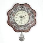꽃장식추벽시계(실버)